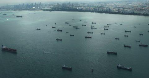 Busy shipping lane, photo: Karl Baron