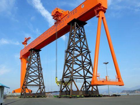 Anjeon has 2,000-ton crane on the move with Cometto SPMT