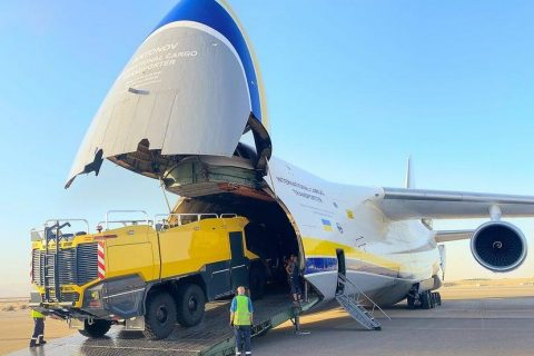 Antonov Airlines flies fire trucks from Middle East to Central Asia