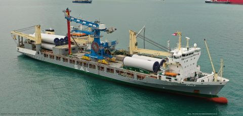 Jumbo-SAL-Alliance transports shipunloader to Israel