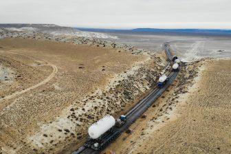 Sarens executes oversized load transport in Kazakhstan