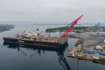Loadout at Worley Rosenberg fabrication facility in Stavanger
