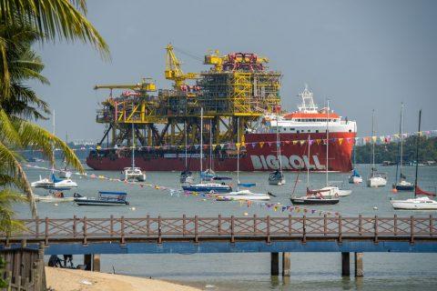 Tyra modules depart Singapore onboard BigRoll Beaufort
