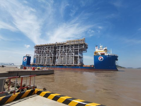 GPO Heavylift sails off with Arctic LNG 2 Train 1 modules