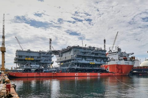 Hornsea Two topsides ready for shipping to Europe