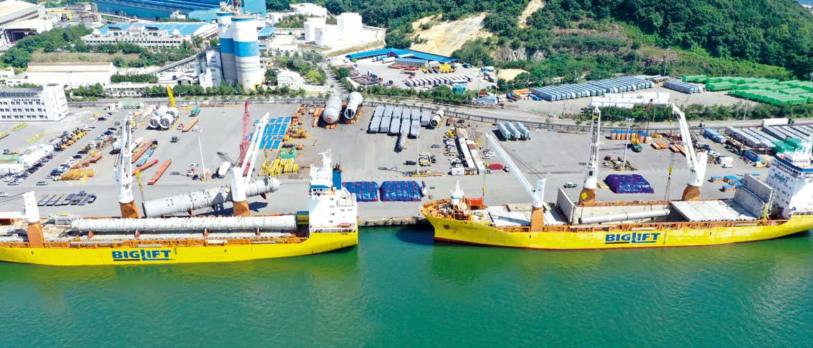 Project cargo journey started in Masan, South Korea