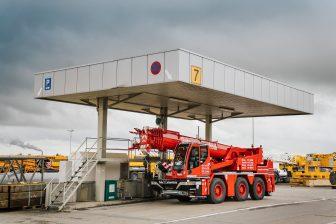Liebherr filling station