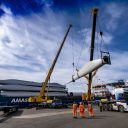 Eight wind turbines unloaded in Port of Leith