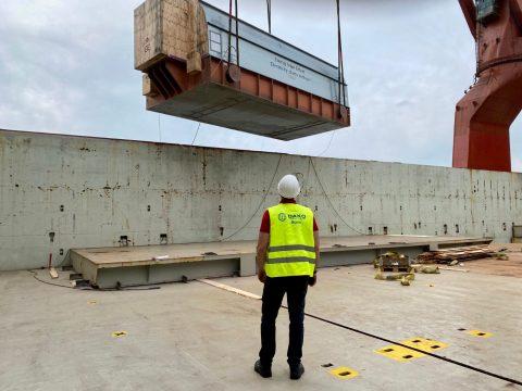 Second Tripoli West project cargo load departs Hamburg