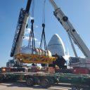 Volga-Dnepr, Fracht fly an 83-ton boiler to USA